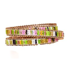 Twos Company Beaded Trim Wrap Snap Closure Bracelet by 2 Chic 11544-A