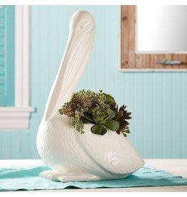 Twos Company Ceramic Pelican Planter 50357 Twos Company