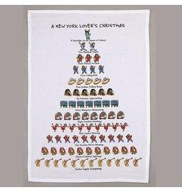 Peking Handicraft Holiday Flour Sack Kitchen Tea Towel A New York Lovers Christmas