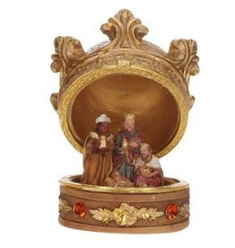 Mark Roberts Christmas Decorations Crown Nativity 3 Kings W Baby Jesus