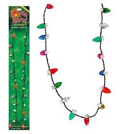 DM Merchandising Lotsa Lites - Flashing Holiday Bulbs Christmas Necklace