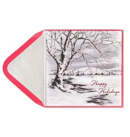 Papyrus Greetings Christmas Card Winter Tree Holiday Card by Papyrus