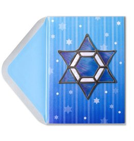 Papyrus Greetings Chanukah Card Hanging Star of David by Papyrus
