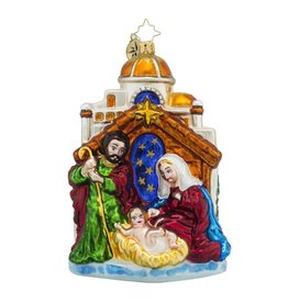 Christopher Radko Christmas Ornaments Blessed Gift Birth of Christ