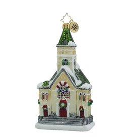 Christopher Radko Christmas Ornaments Keeping the Faith Church