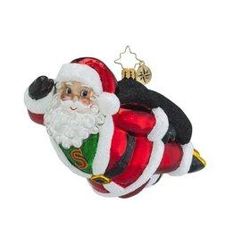 Christopher Radko Christmas Ornament A Hero for Christmas Santa Claus