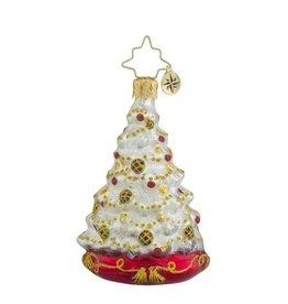 Christopher Radko Christmas Ornament Little Gem Winter Spruce Majesty