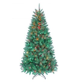 Kurt Adler Christmas Tree Pre-Lit 7 FT Pine Tree w 350 Multi Color Lights 1026 Tips-FLOOR SAMPLE 1/2 OFF $ 118