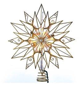Kurt Adler Tree Toppers 24pt Capiz Style Wire Snowflake Star UL3122 Kurt Adler