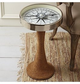 Twos Company Working Compass Accent Table