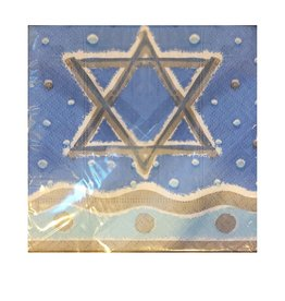 Hanukkuh Cocktail Napkins 20ct Star of David - Design Design