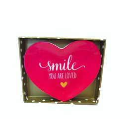 Twos Company Heart Trinket Tray w Smile You Are Loved 80805-20-D Twos Company
