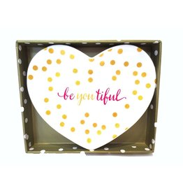 Twos Company Heart Shaped Trinket Tray w beYOUtiful 80805-20-A Twos Company