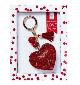 Twos Company Diamond Love Keychain 80803-20-HEART-RED by Twos Company