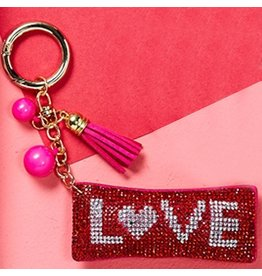 Twos Company Diamond Love Keychain 80803-20-LOVE by Twos Company