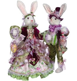 Mark Roberts Fairies Bunnies Mr and Mrs Fashion Bunny Couple 24 inch 51-71906
