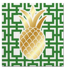 Slant Cocktail Beverage Napkins 20ct F146578 Pineapple Foil