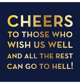 Slant Cheers to Those Who Wish Us Well Beverage Cocktail Napkin 20ct Slant