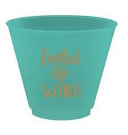 Slant Fueled By Wine Plastic Flex Wine Cups 9oz 8pk F172479 By Slant