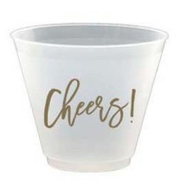 Slant Cheers Plastic Flex Wine Cups 9oz 8pk F172482 By Slant
