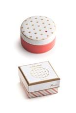 Rosanna™ Hearts Porcelain Round Trinket Box | Rosanna