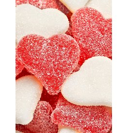Hammonds Candies Valentines Sugared Heart Gummies 7oz by Hammonds Candies