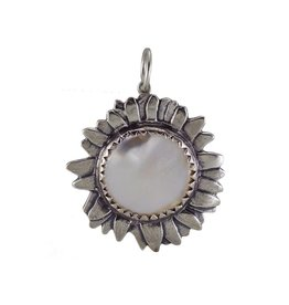 Waxing Poetic® Jewelry Moon Daisy Lg White Pearl Pendant-Silver