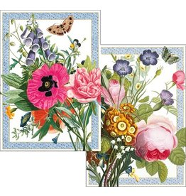 Caspari Blank Note Cards Set of 8 87612.46 Blossoms and Brooches