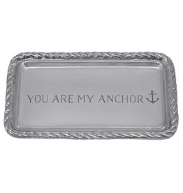 Mariposa Engraved Sentiment Tray 3903AN You Are My Anchor