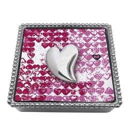 Mariposa Napkin Box Wieght Set 1321-C Heart Napkin Box