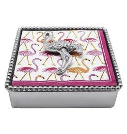 Mariposa Napkin Box Wieght Set 4067-C Flamingo Beaded Napkin Box