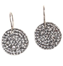 Waxing Poetic® Jewelry COR11SS Corona Earrings - Sterling w Swarovski