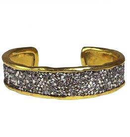 Waxing Poetic® Jewelry Kristal Cuff Bracelet-Brass-Swarovski Crystals