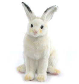 Hansa Toy Plush White Bunny Rabbit Sitting 15 inch 5842