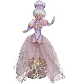 Mark Roberts Fairies Spring 51-71934 Let Me Eat Cake Girl on Dome-Pedestal 21H
