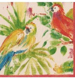 Caspari Paper Cocktail Napkins 20pk 13730C Papageno Parrots