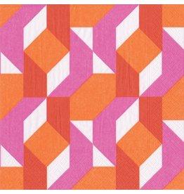 Caspari Paper Cocktail Napkins 20pk 13880C Color Theory Fuchsia