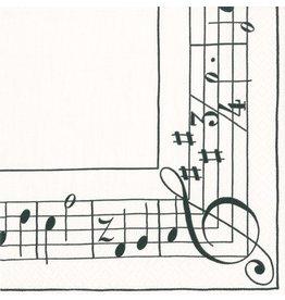 Caspari Paper Cocktail Napkins 20pk 13810C Sonata Musical Notes