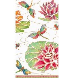 Caspari Paper Guest Towel Napkins 13860G Jeweled Pond Ivory