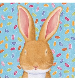 Caspari Easter Rabbit Paper Luncheon Napkins 20pk 13650L | Caspari