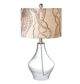Midwest-CBK Octopus Shade Table Lamp w Clear Glass Base 23H