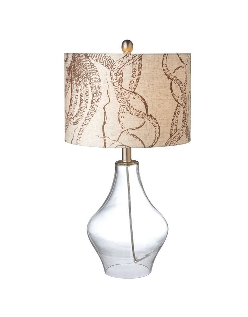 Midwest CBK Octopus Shade Table Lamp W Clear Glass Base 23H