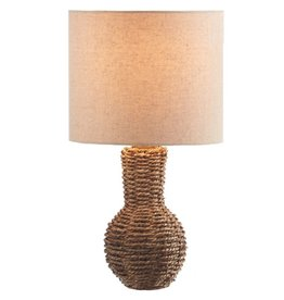 Midwest-CBK Woven Mini Lamp w Shade 16H Style B