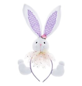Midwest-CBK Easter Bunny Ears Headband 7702425-P Purple Ears