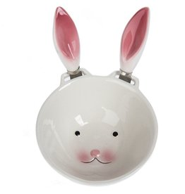 Midwest-CBK Easter Bunny Dip Bowl w Bunny Ear Spreaders Set 7702465