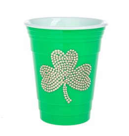 Midwest-CBK Irish-St Patricks Day LED Gold Shamrock 15oz Fun Cup