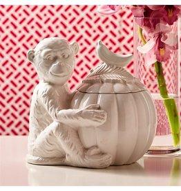 Twos Company Go Bananas Monkey Jar Ceramic 9x8x9 51546 by Twos Company