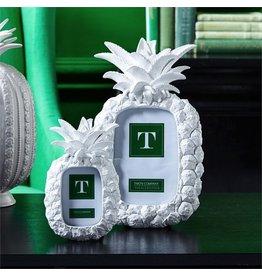 Twos Company White Pineapple Photo Frames Set of 2