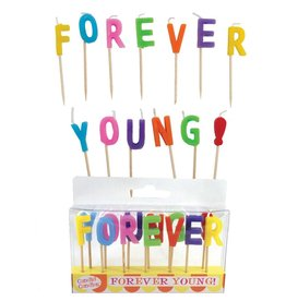 Party Partners Forever Young Letter Candles Candid Candles by Party Partners