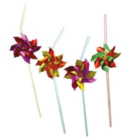 Party Partners Party Straws 12Pk Foil Pinwheels by Party Partners